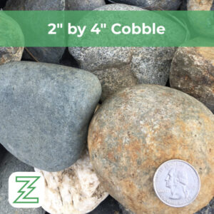 """2"""" by 4"""" Cobble"""