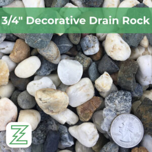 3:4 Decorative Drain Rock